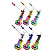 2021 Новый красочный карманный защитный мини-творческий стиль ручки металлическая вода табачная труба Shisha Cokah Water табак курение бонг