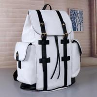 جودة عالية الجلود كريستوفر حقيبة الظهر مصمم knapsack الرجال النساء الزهور الكلاسيكية منقوشة حقيبة مدرسية حقيبة الظهر