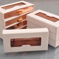 Faux cils 50 / Pack Boîtes de cils en gros emballages Emballage Boîte à cils Paquet Tiroir sur mesure Blanc Mink Lashes Cas de maquillage Vendeur Fast DHL