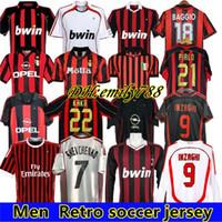 1991 1992 1996 1997 2000 01 2002 2003 2005 2006 2007 09 10 Retro Soccer Jersey Gullit Kaka Maldini Inzaghi Pirlo Vintage Voetbalshirt