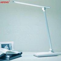 AiFeng LED Декоративные Настольные Лампы USB Dimmer Гибкий Складной Диммируемый Стол Настольный Световой Офис USB DC 5V LED Сенсорная Настольная Настольная лампа