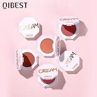 Qibest Face Face Blush Blush Palette 6 Colore guancia Blusher Polvere Makeup Rouge Pigmento minerale Cosmetici Lunga durata Gruppo naturale 0542