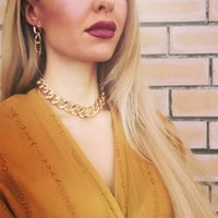 12mm mulheres retrô grossa cadeia colares hip hop personalidade personalidade gargantilha link link corrente contabilista decote neckalce punk jóias presente de natal