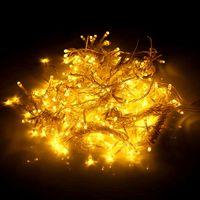 Venta caliente 600led ventana cortina cadena luz de hadas de la boda de la fiesta de Navidad decoración de la fiesta de la Navidad (blanco cálido) de las cuerdas de material de calidad superior de la iluminación