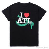 Me encanta ATL de manga corta casual estilista t shirt de alta calidad moda hip hop hombres mujeres camiseta