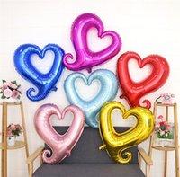 """32 """"большой размер крюк в форме сердца фольга helium шары свадебные валентинки декор я люблю тебя надувные воздушные расходные материалы"""