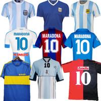 1978 1986 아르헨티나 Maradona 축구 유니폼 레트로 82 83 93 94 Newells 오래된 소년 1981 Boca Juniors 87 88 나폴리 나폴리 축구 셔츠 태국