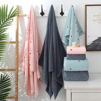 2020 Nueva fresa Bordado Diseñador Toalla Set 100% algodón Toalla de baño Ladies Linda Rosa