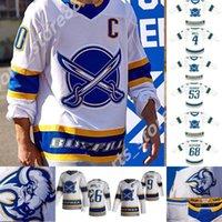 새로운 Buffalo Sabers 2021 Reverse Retro Hockey Jersey Linus Ullmark Ukco-Pekka Luukkonen Kyle Okposo Rasmus Ristolainen 사용자 정의 스티치