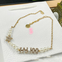 Light Luxury High Texture Neue Internet Celebrity Letter Pearl Armband Halskette Damenmode