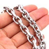 Catene in acciaio inox in acciaio inox rolo ovale catena di collegamento da uomo di alta qualità Bracciale da uomo 7-40 pollici per la scelta