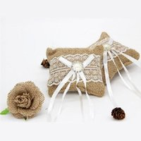 Wedding Ring Pillow Cushion Ring Bearer Lace Bow Flower for Wedding Ceremony party DIY Supplies