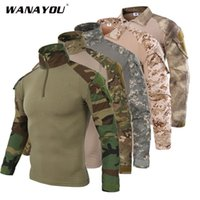 Men's Tactical T-Shirt,Male Camouflage Shirt For Shooting Hunting,Plus Size Breathable Army Hiking Training Shirt