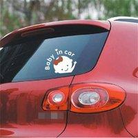 Mooie Baby Patroon Auto Sticker 2 Kleuren Only White Reflection Stickers Voertuig Achterlicht Voorruit Decal Wees voorzichtig Babe in Cars 0 78SC L2
