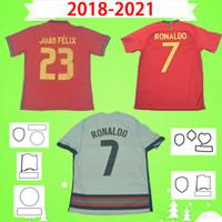 نهائيات Camisa de Futebol Ronaldo Soccer Jerseys Joao Felix 2018 2019 2020 2021 كرة القدم قميص 18 19 20 21 Carvalho Mailleot De Foot