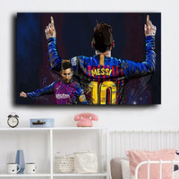 Football Star Lionel Messi Poster Prints Modern Sport Canvas...