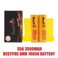 100% authtisch bestfire BMR 18650 Batterie 35A 3500mAh 18650 Batterien Wiederaufladbare Lithiumbatterien FEDEX UPS Versand