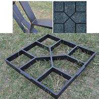 Garden Walk Pavimento Molde DIY Manualmente Pavimentação Cimento Tijolo Estrada de Pedra Moldes Concreto Fabricante Reusável DIY Manualmente Pavimentação