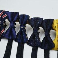 Bowties 67 색상 새로운 유니섹스 남성 여성들이 버클을 조정합니다. 남자 스트라이프 bowknot 목 활 공식 상업 넥타이 파티 턱시도 클래식 버터