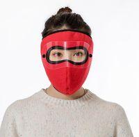 Máscaras de la cara de invierno hombres mujeres al aire libre de esquí protege la cubierta de la cara Ciclismo de la bicicleta Motocicleta Cálido Afile a prueba de viento Mascarilla Orejeras GGC4543