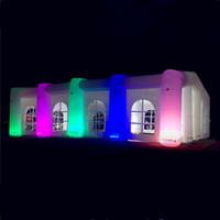 Avec la vidéo gonflable de mariage gonflable gonflables Booth avec une couleur modifiée de LED pour la décoration de spectacle en plein air