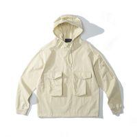 Cptopstoney Konng gonng printemps et automne 19SS Tissu de coton de coton de coton en nylon de coton en nylon, ghost hoodie