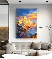 Gran paisaje abstracto enmarcado sin marco de decoración para el hogar sin marco pintado a mano HD Pintura al óleo sobre la pared de la pared de lienzo Pictures de la lona -R2017-09