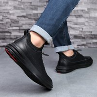 Breathable Shoes Spring 2019 New Men&#39s Casual Shoes Trend Sports Leather Men&#39s Shoes