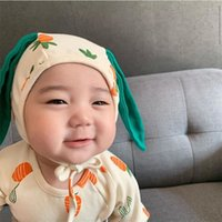 MILANCEL baby clothing carrot and apple print toddler girls boy bodysuits cute baby one piece with hat 201216