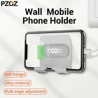 휴대 전화 마운트 홀더 Pzoz 벽 홀더 스탠드 11 8 x 마운트 접착제 휴대용 충전기 후크 매달려
