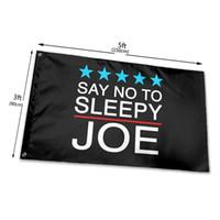 No to sleepy joe anti-Biden 3x5ft Garden Bandiera decorativa da giardino è stampata su un lato all'interno e all'esterno