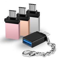 Adaptateur de type C USB C à USB Un convertisseur d'adaptateur OTG avec porte-clés pour MacBook pour Samsung S10 S9 S8 Plus LG G5 G6