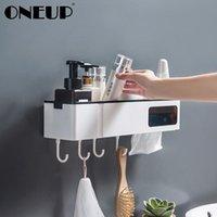 Banyo Aksesuarı Set One Aup İşlevli Banyo Raf Duvara Monte Duş Şampuanı Depolama Raf Doku Organizatör Ev Aksesuarları için