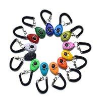 Pet Dog Training انقر فوق Clicker Whistle أجيليتي التدريب المدرب المعونة المعصم الحبل الكلب التدريب طاعة اللوازم سلسلة مفتاح سلسلة