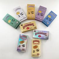 Lashwood rectangular empty magnetic box for 16mm-25mm dramatic strip mink eyelashes customized logo packaging false eye lashes vendor