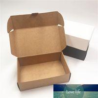 12pcs 18x11.5x3.5cm Brown Black Black Cuboid Paper Boîtes pour emballage Pizza Cakey Cadeau Boîte-cadeau