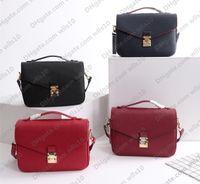 حقائب نسائية المحافظ عالية الجودة المرأة حقيبة جلد طبيعي pochette metis النقش حقائب الكتف حقيبة crossbody كود المسلسل M40780 LB84