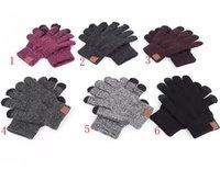 Gestrickte winterhandschuhe mann frau fest warm tragbarer handschuh outdoor sport fünf finger touch screen handschuhe weihnachtsgeschenke