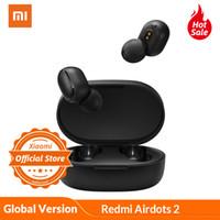 Xiaomi Redmi Airdots 2 Bluetooth 5.0 في الأذن Mi True earbuds اللاسلكية الأساسية 2 mic gaming tws سماعة سماعة الإصدار العالمي