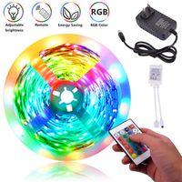 ベストセラープラスチック300-LED 24W RGB IR44ライトストリップセットIRリモコン(ホワイトランププレート)トップグレードの素材LEDストリップ