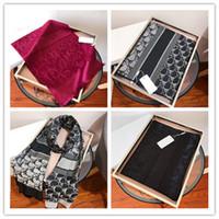 2021 Écharpes pour femmes Foulard en soie de laine de concepteur pour femmes Vente chaude Mesdames Hiver Châles Scarfs Scarfs Pashmina Fashion Long Bague Dropship