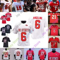 NC State North Carolina Wolfpack Football Jersey NCAA College Philip Ruvers Russel Wilson Devin Leary McKay 나이트 Emezie Carter Hines