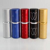 50 pçs / lote 30ml vidro vazio pulverizador de vidro frasco de metal shell de metal frascos frascos de amostra atomizador