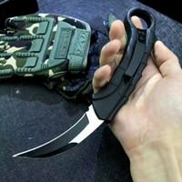 Karambit Oto Taktik Pençe Bıçak 440C Tel Çizim Blade Znal Alaşım Kolu Naylon Kılıf ile Açık EDC Aracı