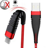 1m 3ft 새로운 내구성 높은 Hi-Theinter Braided 나일론 USB Type-C 케이블 2.4A 빠른 충전 마이크로 USB 케이블 데이터 Sync USB 충전기 케이블 전화 S9