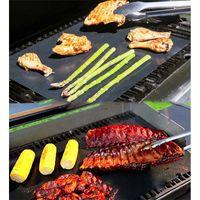 Non-stick barbecue grill tappetino spessa resistente 33 * 40 cm griglia barbecue tappetino riutilizzabile senza bastone BBQ grill mat foglio foglio picnic strumento di cottura YYF3635