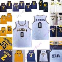 Michigan Wolverines Basketbol Jersey NCAA Koleji Isaiah Livers Zavier Simpson Rice Webber Levert Crawford Howard Rose Jon Teske