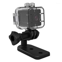Acción deportiva Cámaras de video SQ12 Mini WiFi Cámara remota Ultra Alta definición 155 Grados Lente de gran angular Portátil con carcasa impermeable
