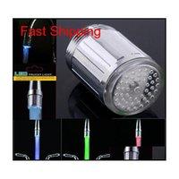 Два типа 7 цветов светодиодные водяные душевые головки светлый светильник светодиодный кран с адаптером для большинства файлов CAUCET KITC JLLLMX XMHYARD