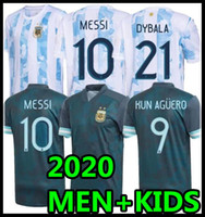 2020 Argentina Futebol Jersey 2021 Copa Away Camisa de Futebol Maradona Messi Dybala Aguero Lo Celso Martinez TagliaFico Homens + Kids Kit uniformes